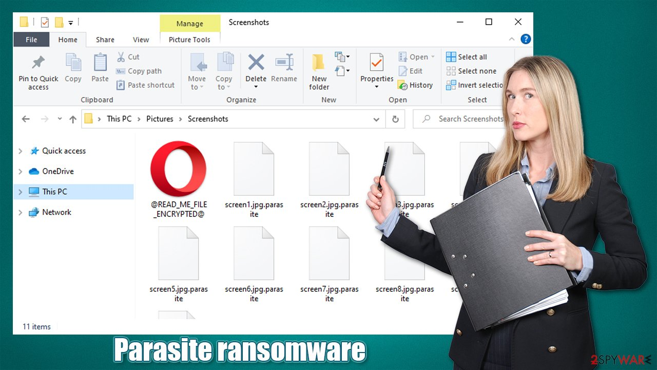 Parasite ransomware virus