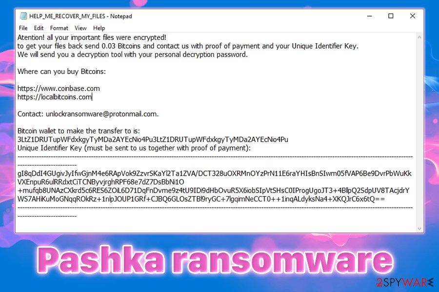 Pashka ransomware