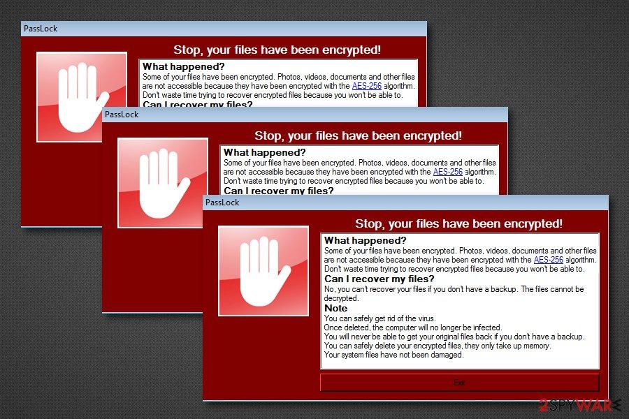 PassLock ransomware virus