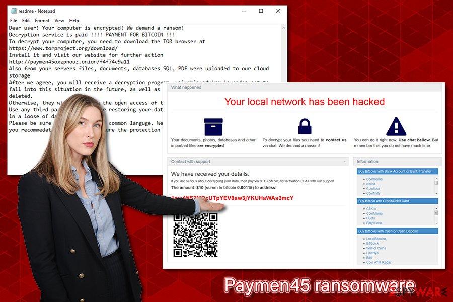 Paymen45 ransomware virus