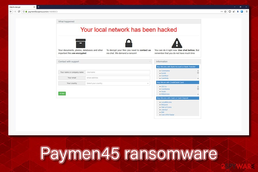 Paymen45 ransomware