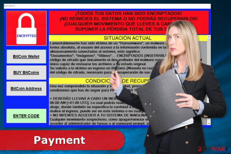 Image of Payment ransomware virus