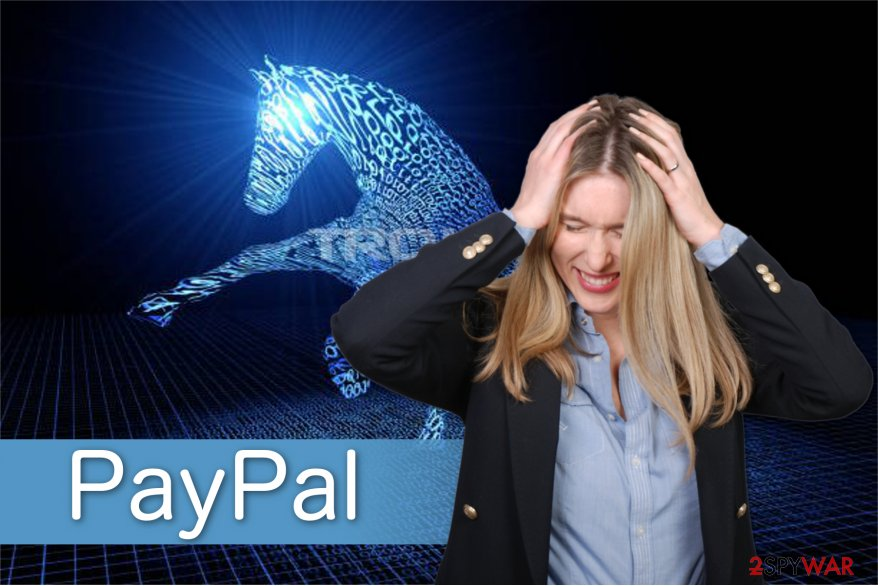 PayPal virus illustration