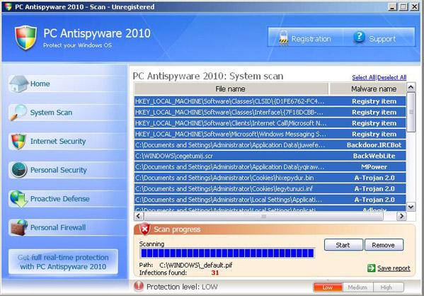 PC Antispyware 2010