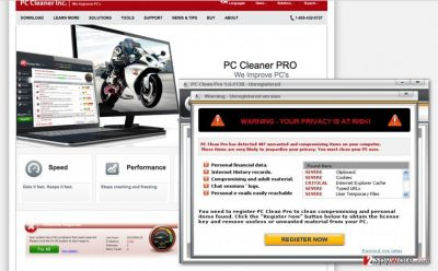 Picture of PC Clean Pro virus
