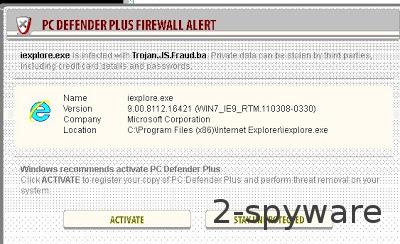 PC Defender Plus Firewall Alert