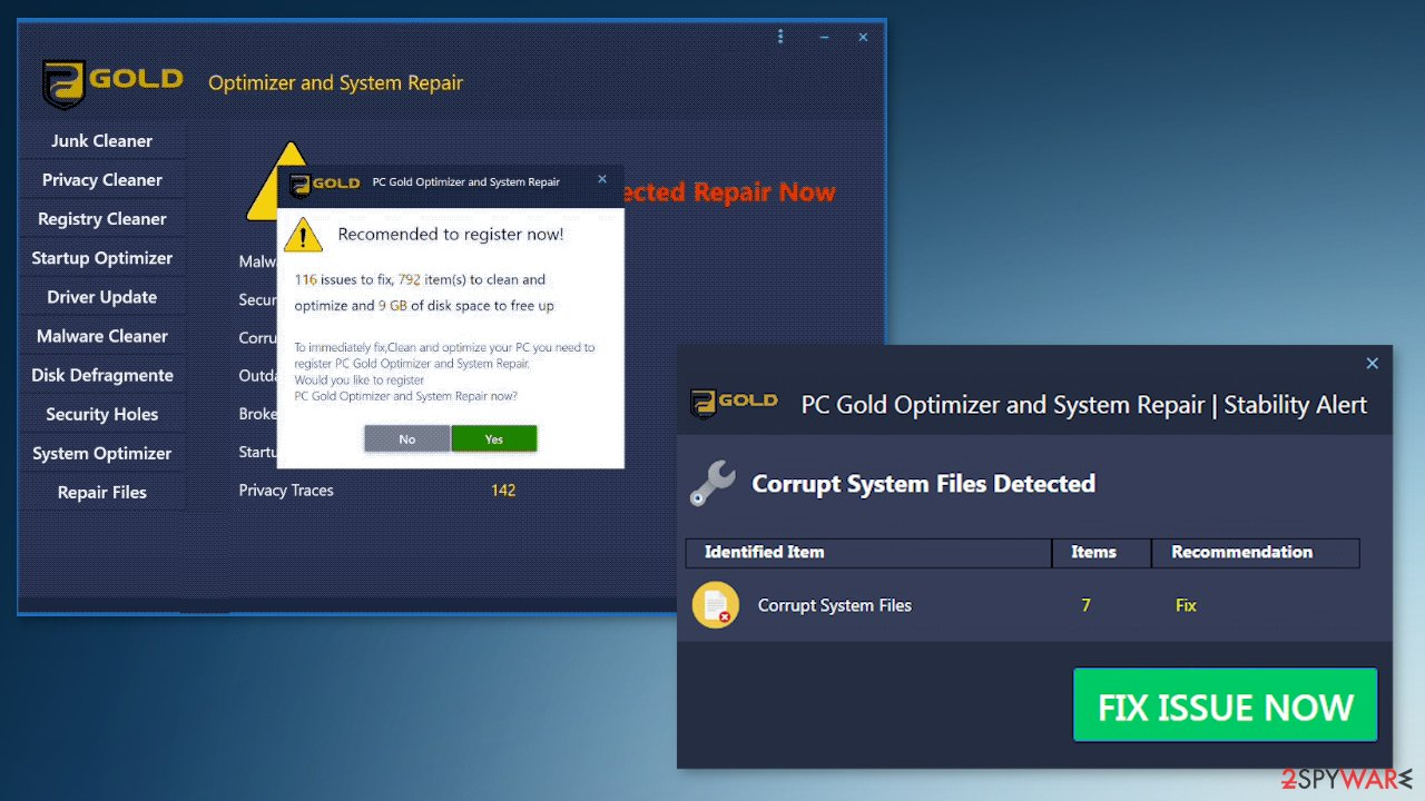 PC Gold Optimizer tool