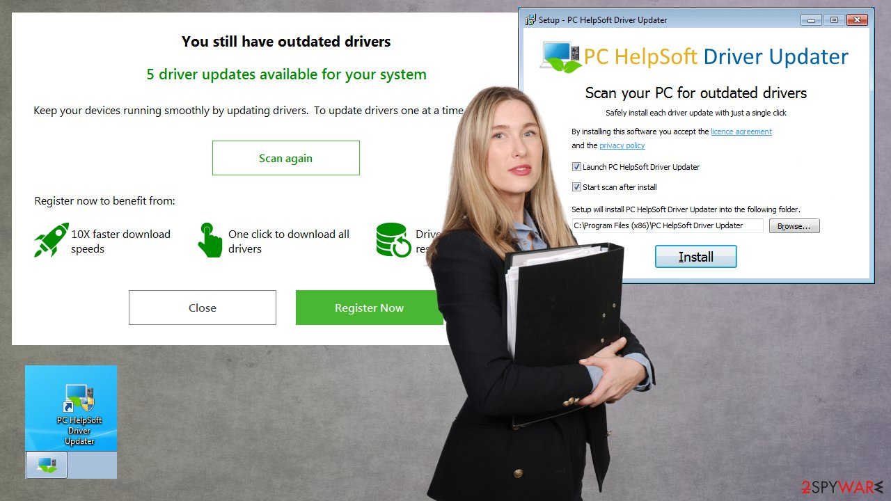 PC HelpSoft Driver Updater PUP