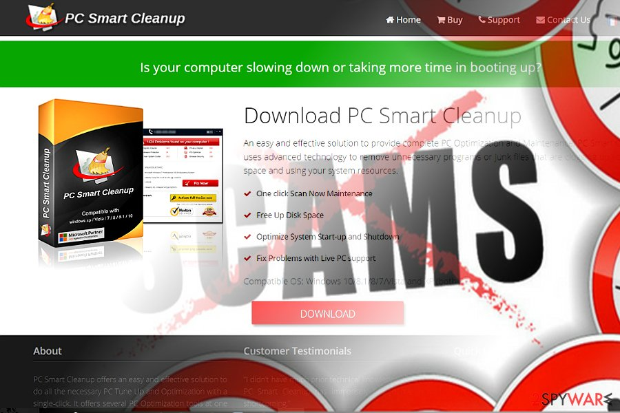 The image of PC Smart Cleanup main page