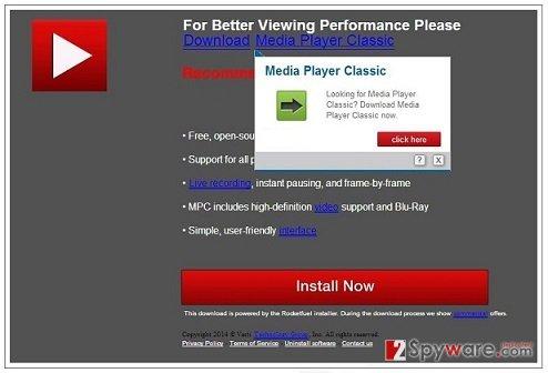 PCSoftUpdate.com pop-up virus snapshot