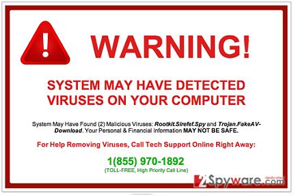 Pcsupport.1-newmessages.com pop-up virus snapshot