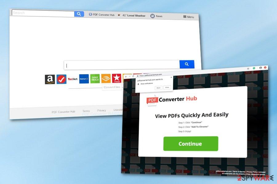 PDF Converter Hub browser hijacker