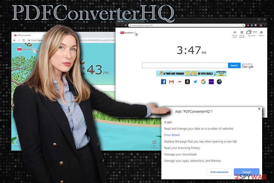 PDFConverterHQ hijack