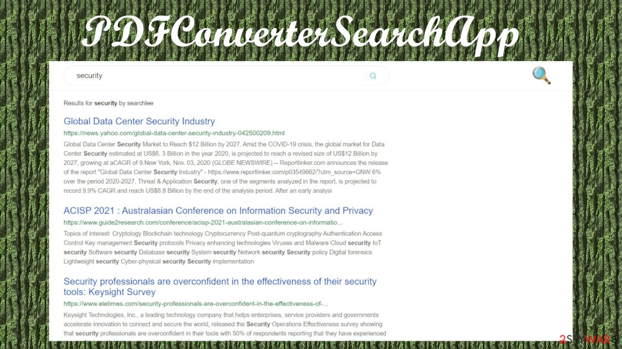 PDFConverterSearchApp browser hijacker