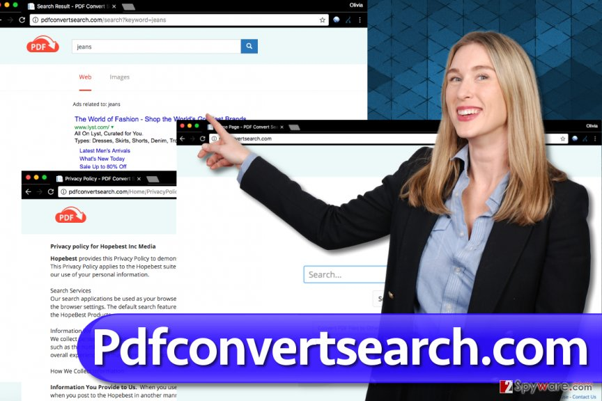 Screenshot of Pdfconvertsearch.com virus