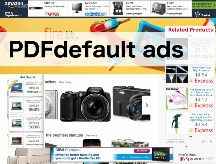 An illustration of the PDFdefault ads