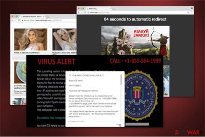 """The image of """"PEGASUS SPYWARE ACTIVATED"""" scam"""