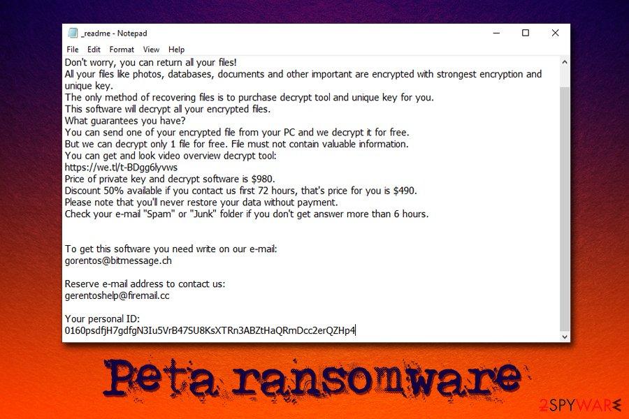 Peta ransomware