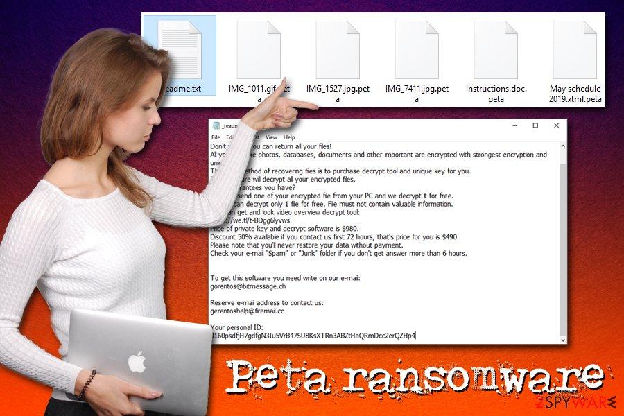 Peta ransomware virus