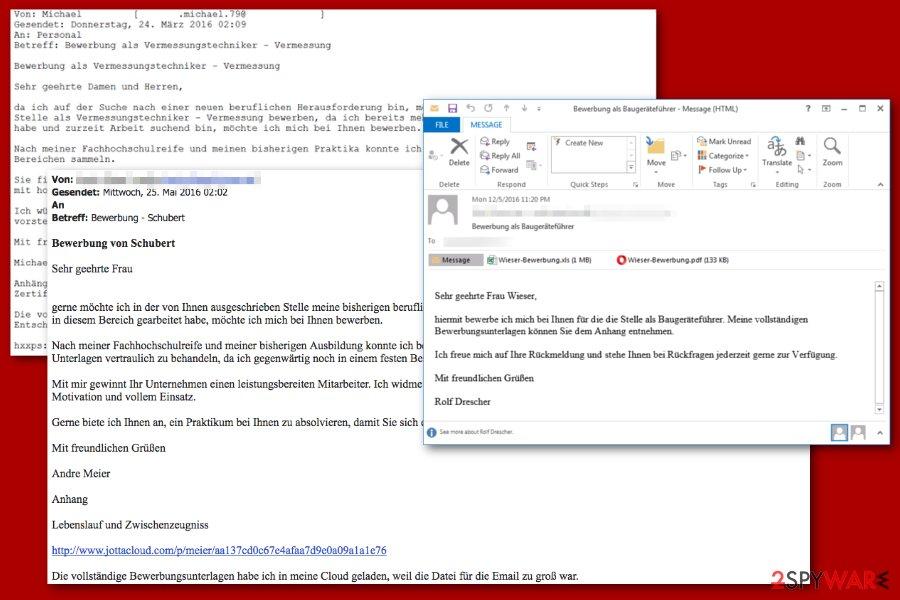 Petya ransomware malspam
