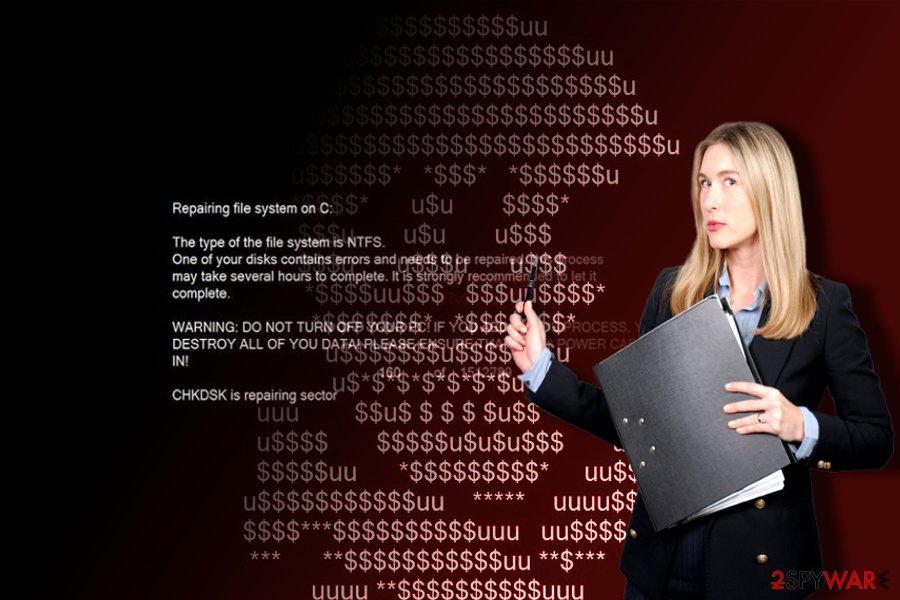 Petya+ system alert