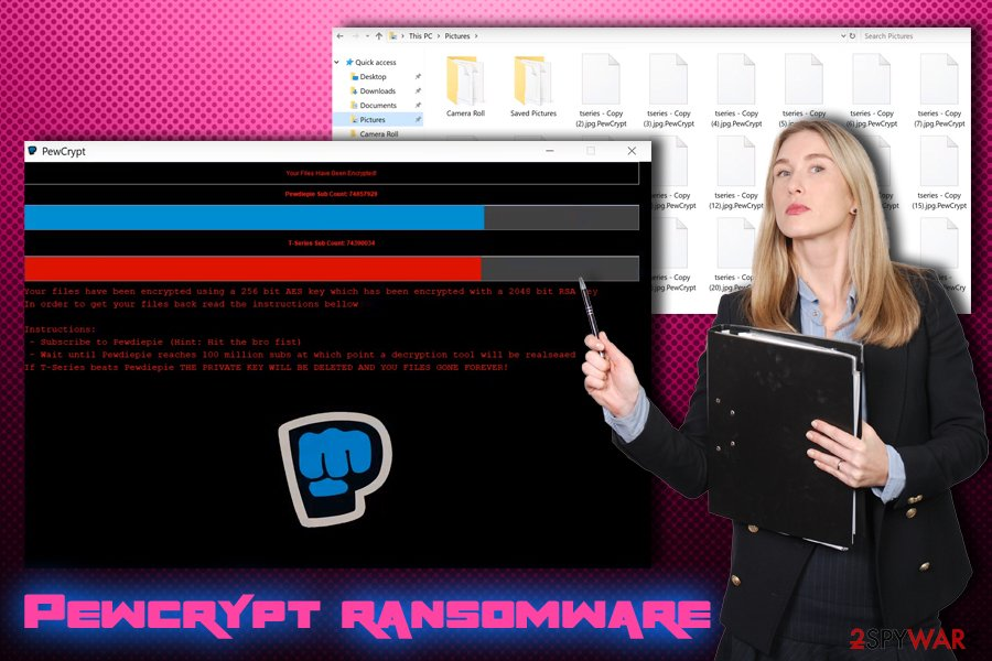 Pewcrypt ransomware virus
