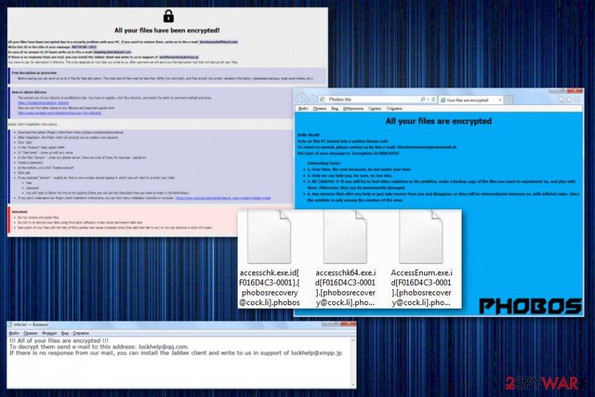 Phobos ransomware file locking virus