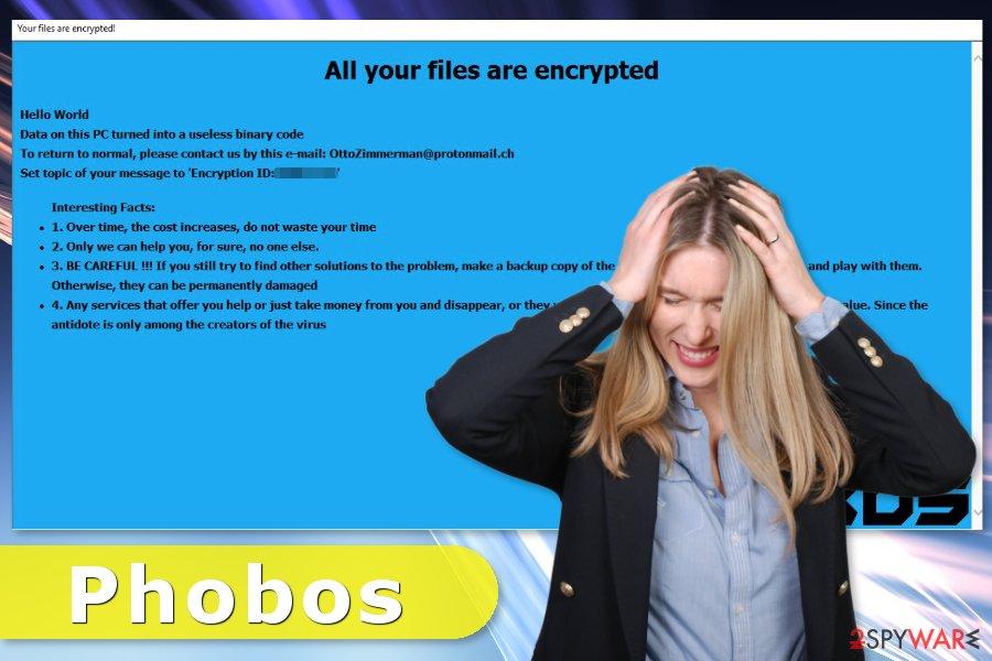 Phobos ransomware virus attack