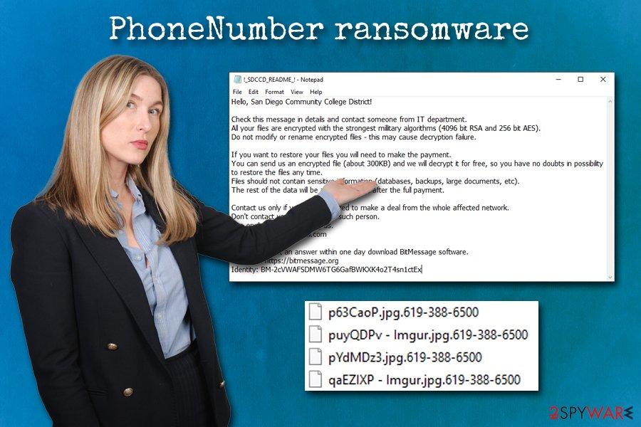 PhoneNumber ransomware virus
