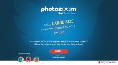 An image of Photo Zoom For Twitter download site