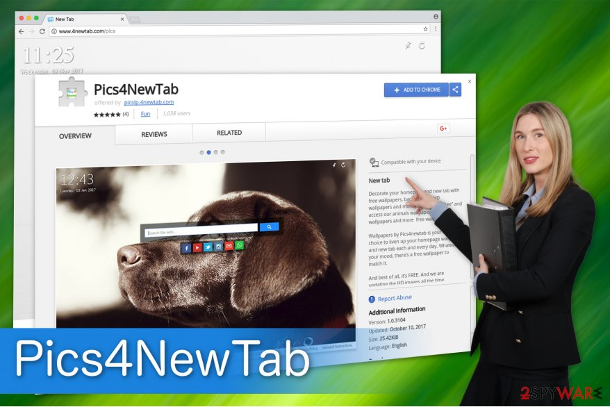 Pics4NewTab virus is available on Chrome Web Store