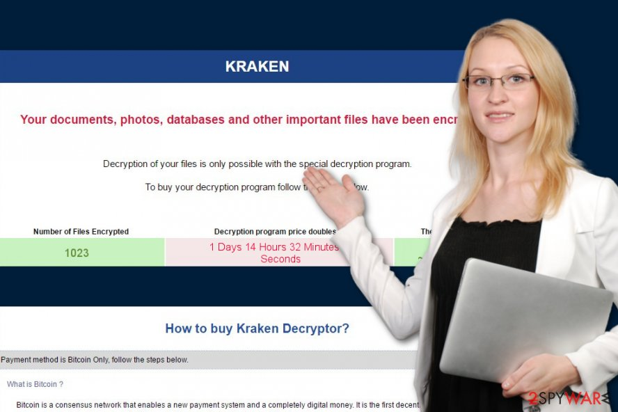 Picture of Kraken ransomware note