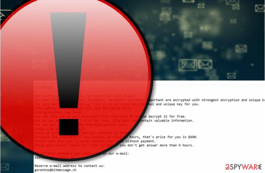 Pidon ransomware virus