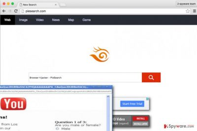 PieSearch virus presents bogus search engine