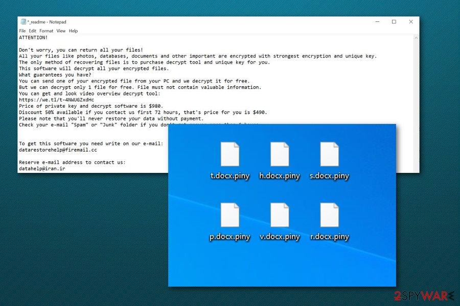 Piny ransomware virus