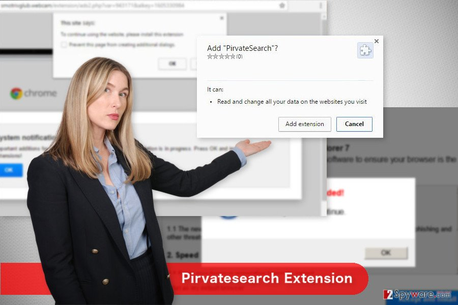 The image of Pirvatesearch Extension virus