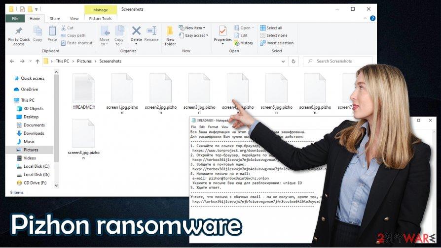 Pizhon ransomware virus