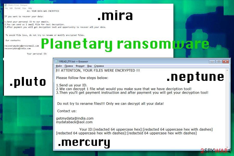 Planetary ransomware virus