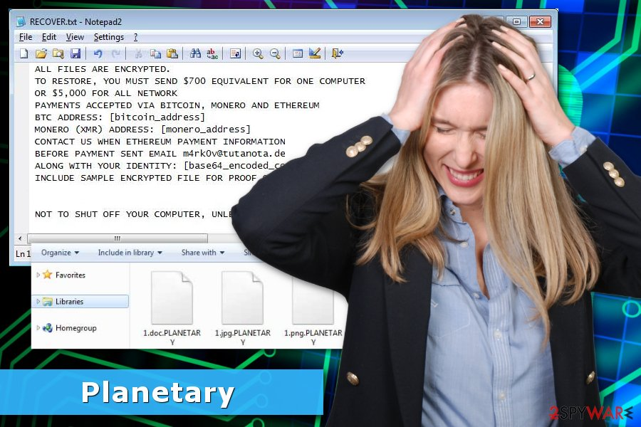 PLANETARY ransomware virus image