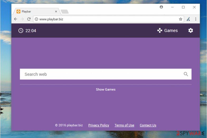 Screenshot of Playbar.biz search engine