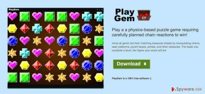 the picture showing PlayGEM virus