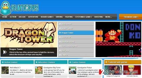 Playtopus adware snapshot