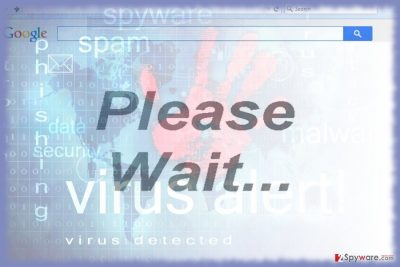 """The  picture of """"Please wait.."""" adware"""