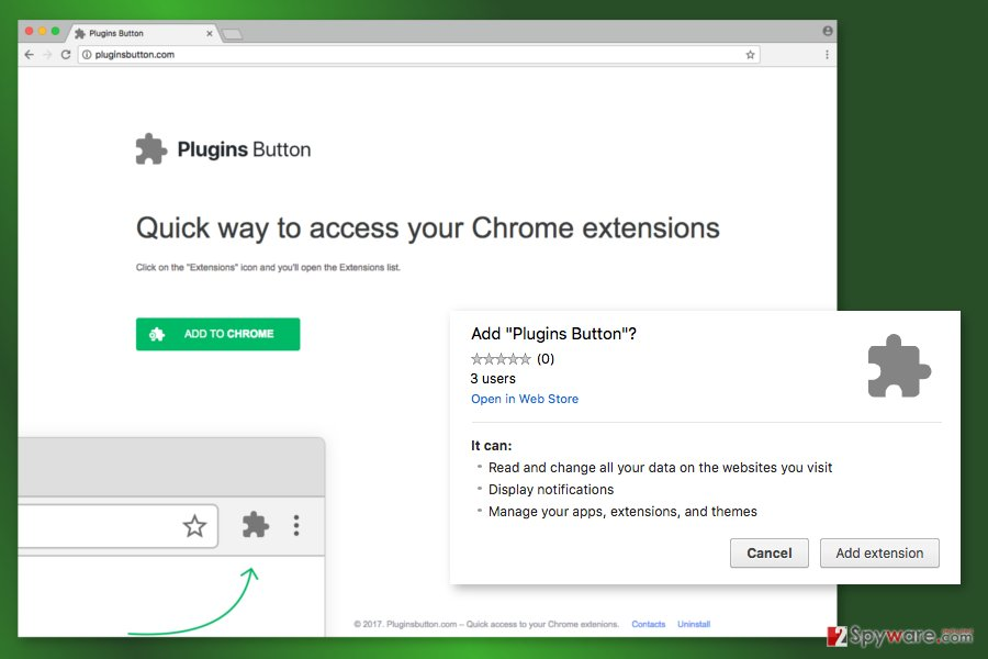 The image of Plugins Button