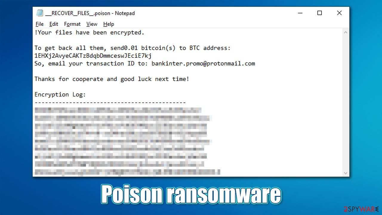 Poison ransomware