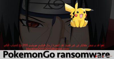 PokemonGo malware and its ransom note