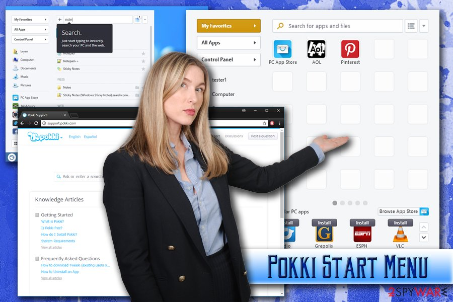 Pokki Start Menu virus
