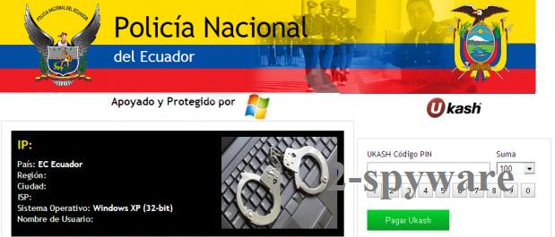 Policía Nacional del Ecuador virus snapshot