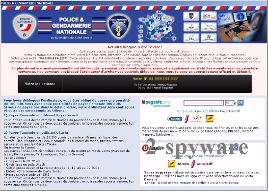 Police & Gendarmerie Nationale virus snapshot