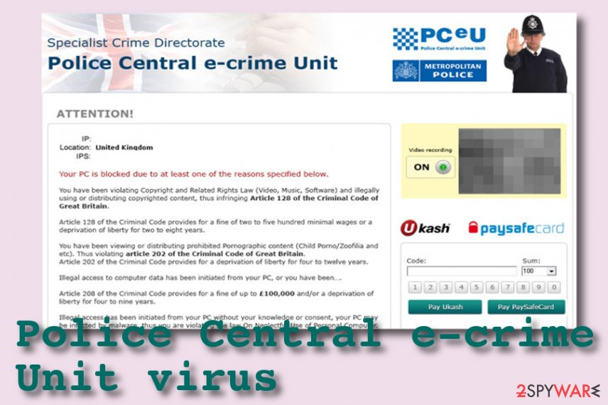 Police Central e-crime Unit virus